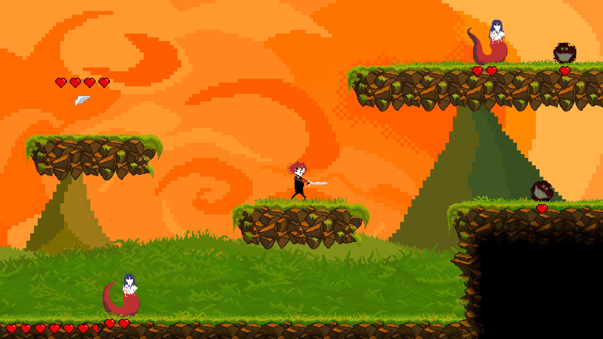 Stabman in the beginning of the overworld level