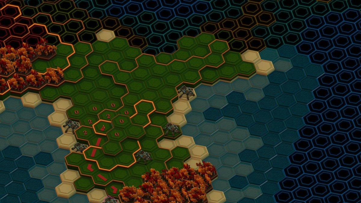 hexagonal pam with a few mechs