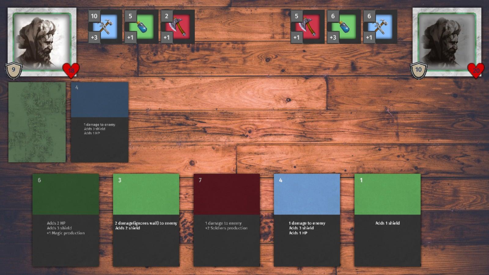 Updated cards & battle UI
