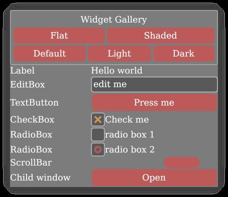 KAS widgets example