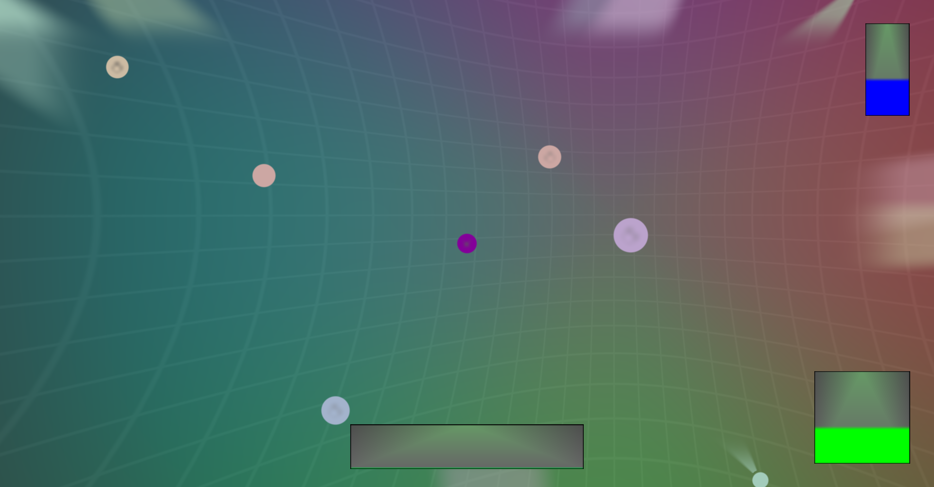 game screenshot: spheres!