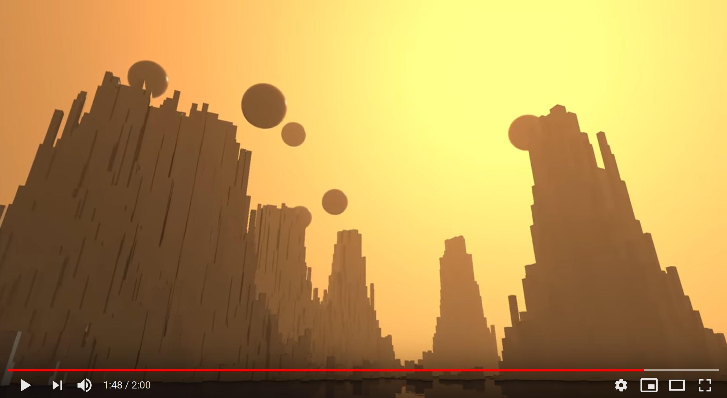 Youtube preview: mountains & spheres