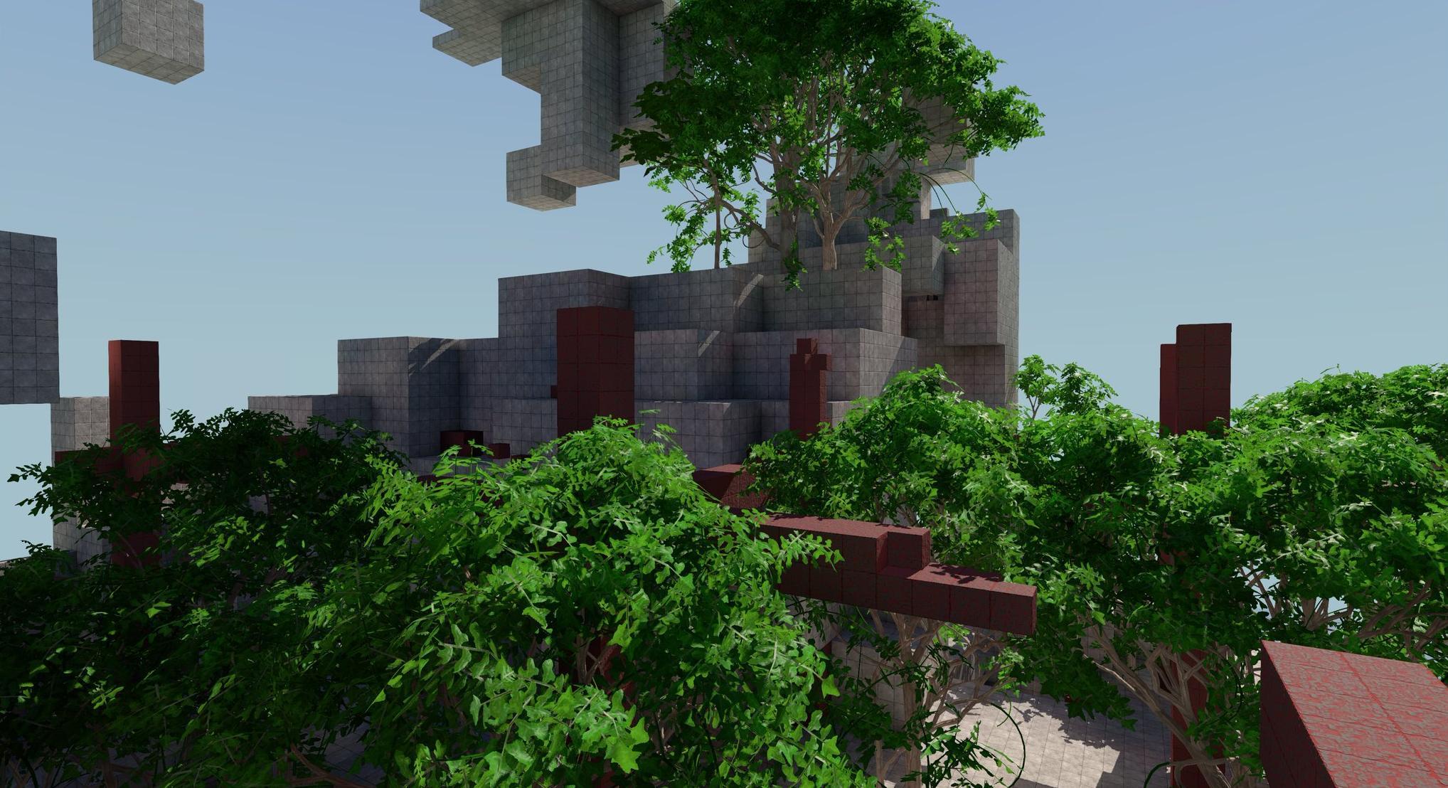screenshot: concrete, trees, shadows