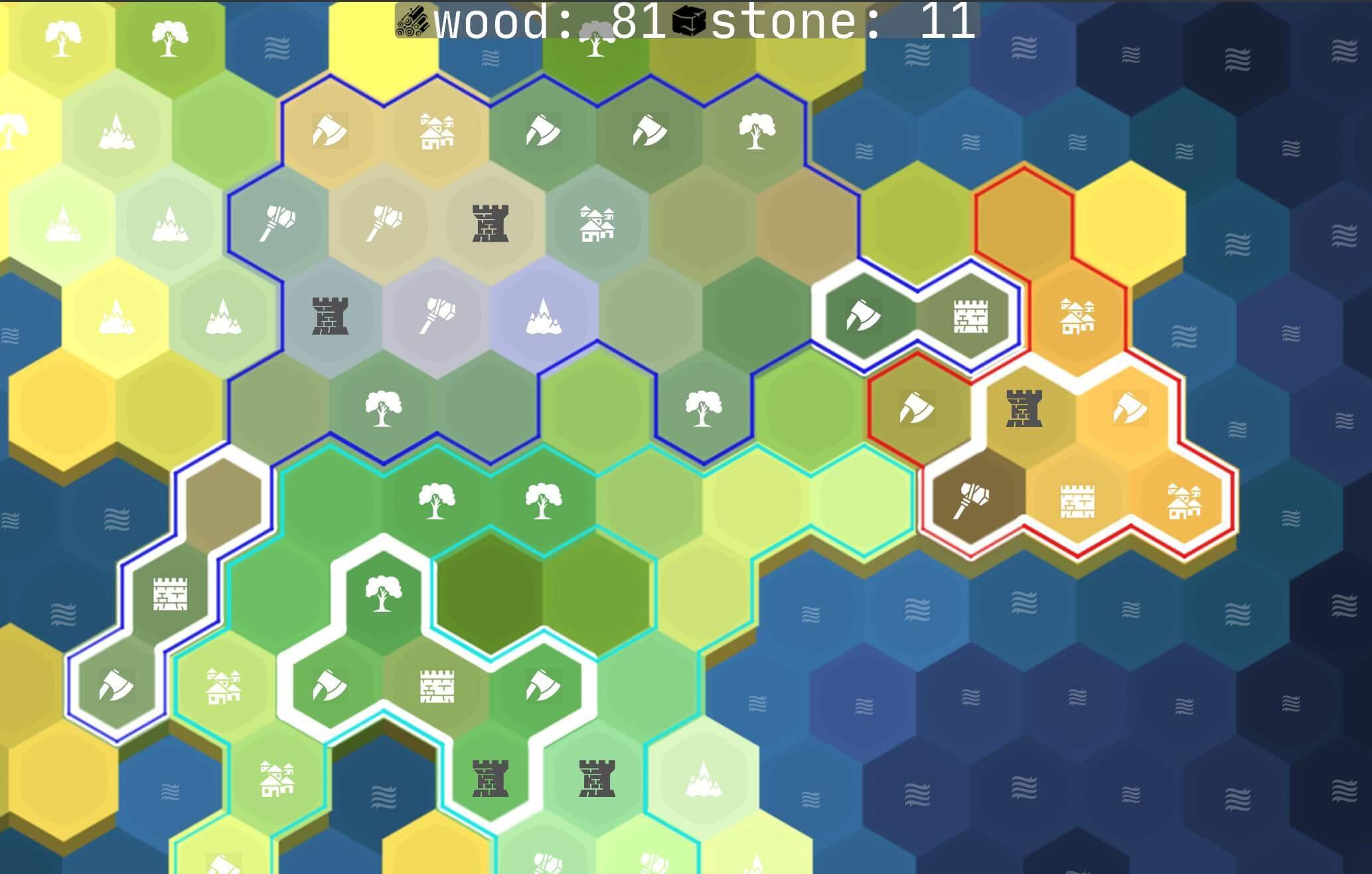 hexagonal strategy map with region borders