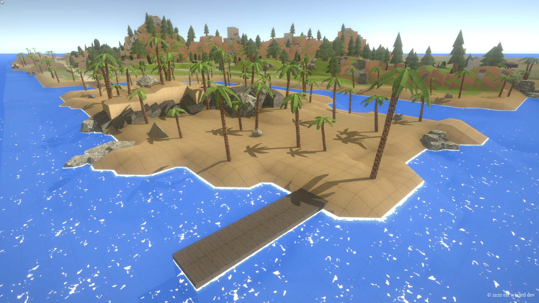 A view of a beach area on Antorum Isle