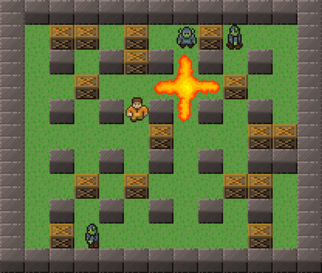 gameplay screenshot wthh an explosion