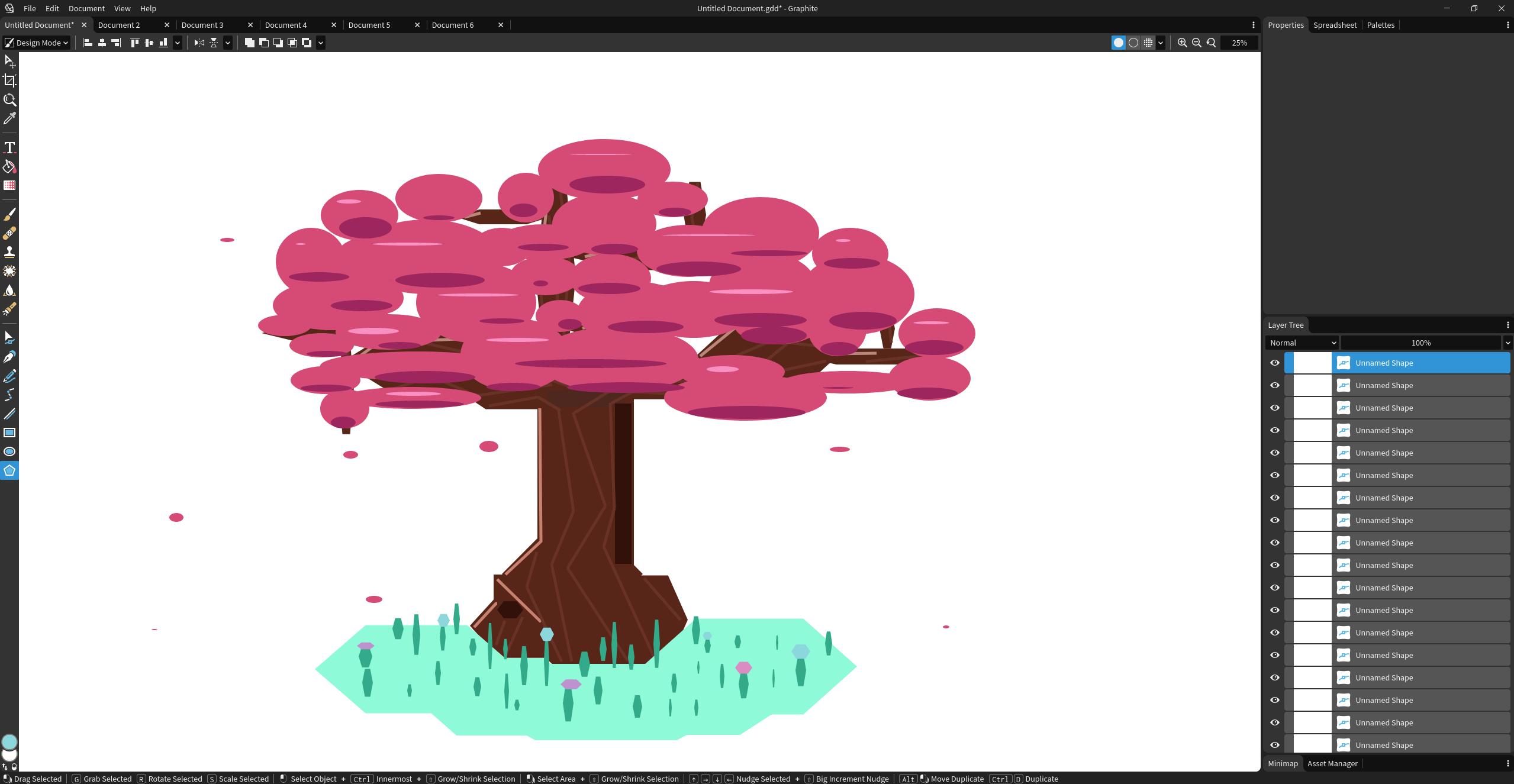 Geometric cherry tree