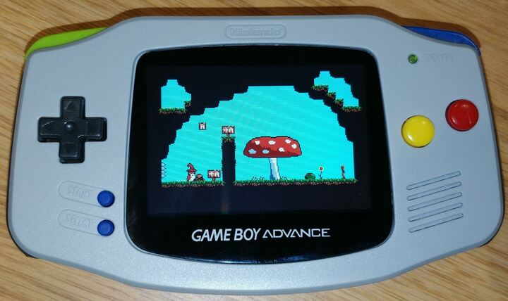 """Level 1-4 of the game """"The Hat Chooses the Wizard"""" running on a Game Boy Advance"""
