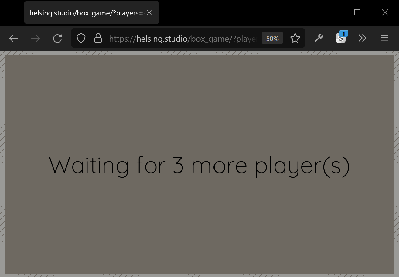 matchbox demo screenshot: Waiting for 3 more players